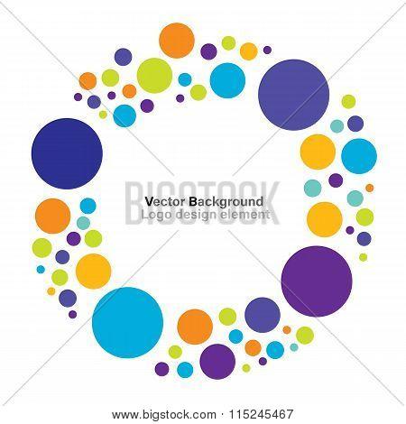 Colorful circle logo design element