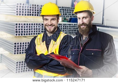 Smiling Workers In Protective Uniforms