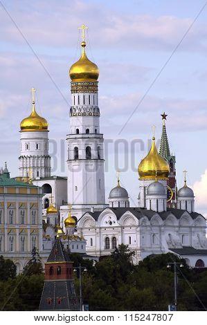 Belltower Ivan Veliky in Kremlin. Moscow. Russia