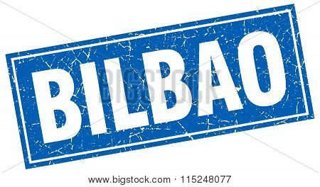 Bilbao blue square grunge vintage isolated stamp