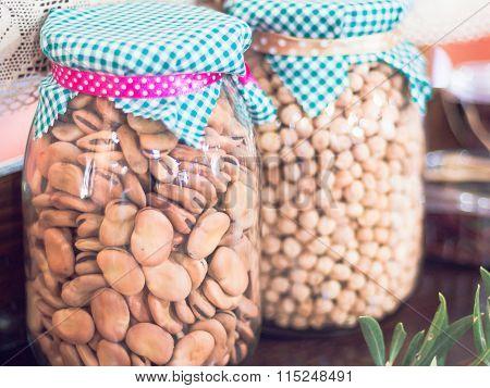 Broad Beans Glass Jar