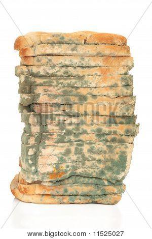 Naco de pão mofado