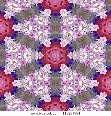 Seamless texture of abstract fabric. Kaleidoscopic wallpaper tiles.