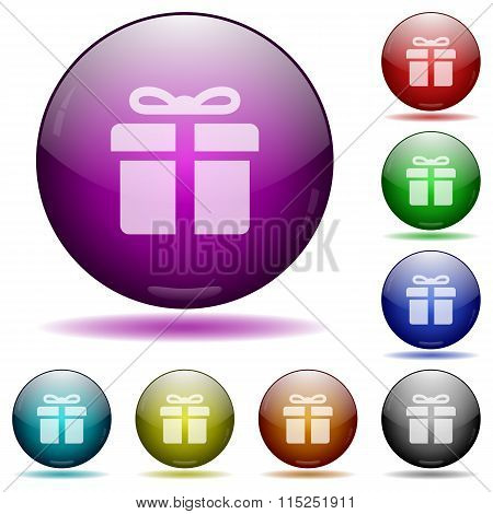 Gift Glass Sphere Buttons