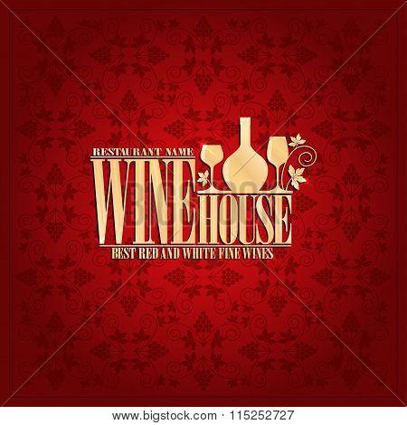 Wine house Vintage design card