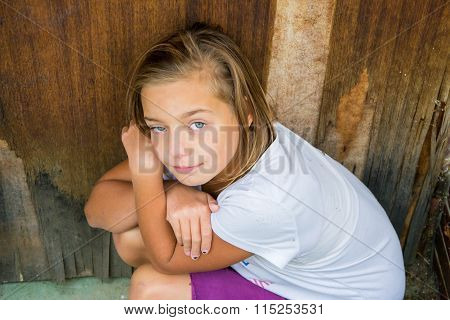 Poor Abused Child Suffer Lonely