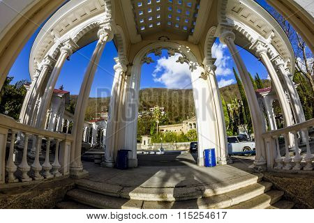 The Colonnade And The Embankment In Gagra , Abkhazia, Caucasus