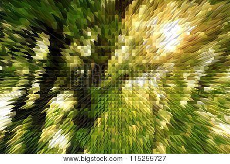 Green Abstract Texture With Light Blurs