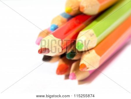 Some Multi-colored Pencils, Red Will Put Forward More Strongly Than The Others