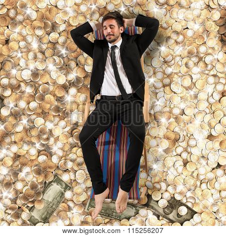 Carefree businessman
