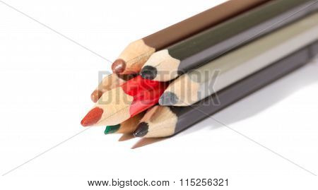 Some  Pencils And One Red Among Them