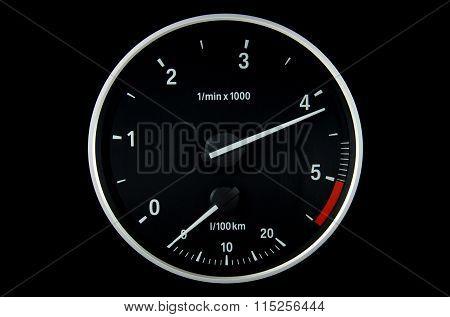 Round Tachometer