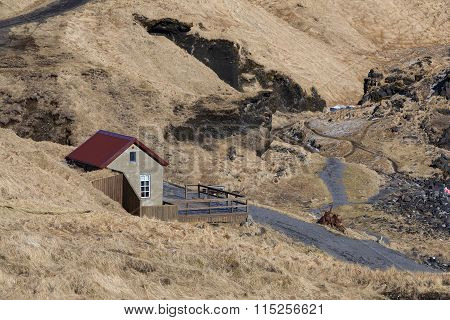 Lonely House In Iceland