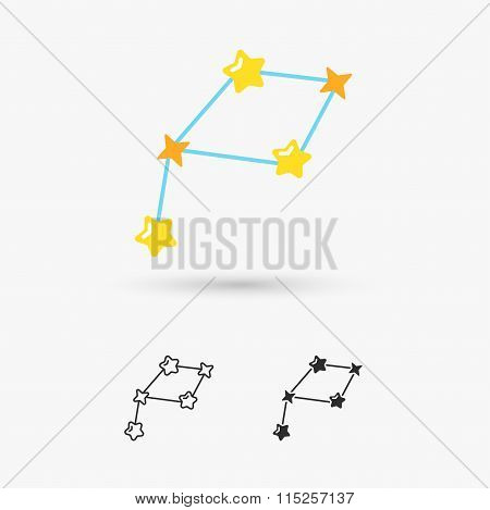 Constellations, stars