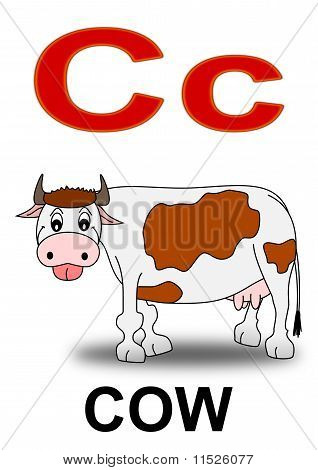 """Letter """"C""""cow"""