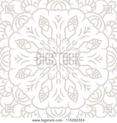 Subtle openwork vector seamless pattern.