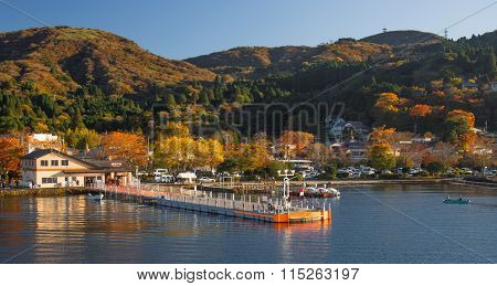 Lake Ashinoko In Full Autumn Glory