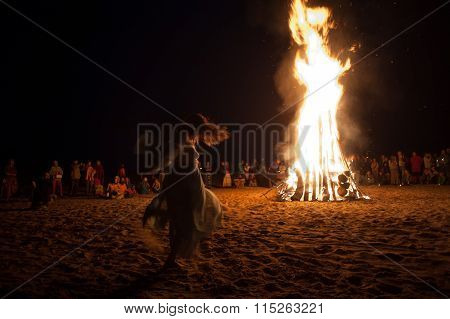 Night Campfire