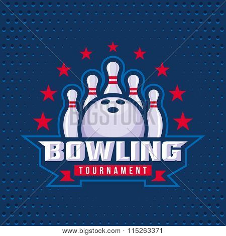 Bowling Logo Design Template.
