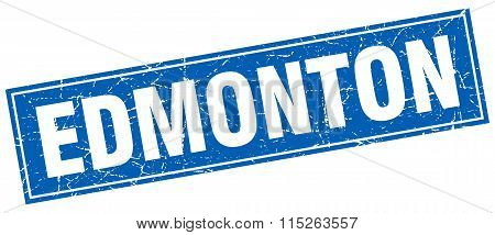 Edmonton blue square grunge vintage isolated stamp