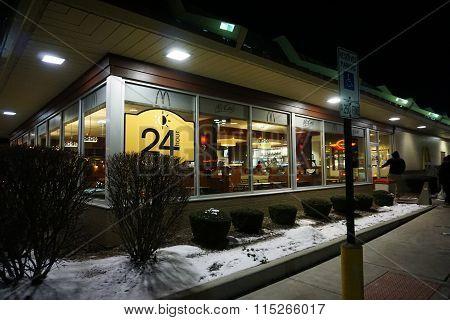 McDonald's Restaurant on New Year's Eve