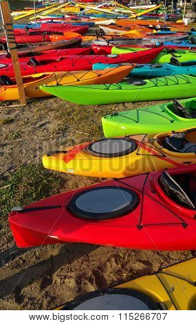 Kayaks on Shore