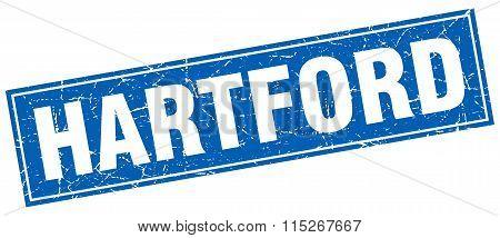 Hartford blue square grunge vintage isolated stamp