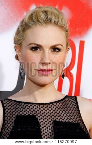 LOS ANGELES, CALIFORNIA - May 30, 2012. Anna Paquin at the HBO's