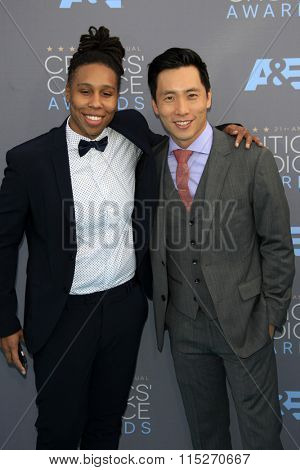 LOS ANGELES - JAN 17:  Lena Waithe, Kelvin Yu at the 21st Annual Critics Choice Awards at the Barker Hanger on January 17, 2016 in Santa Monica, CA