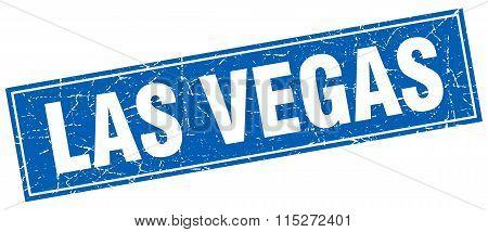 Las Vegas blue square grunge vintage isolated stamp