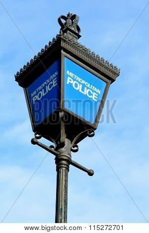 British police station sign
