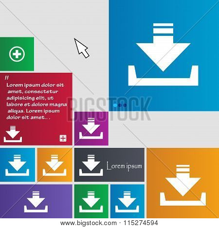 Restore Icon Sign. Buttons. Modern Interface Website Buttons With Cursor