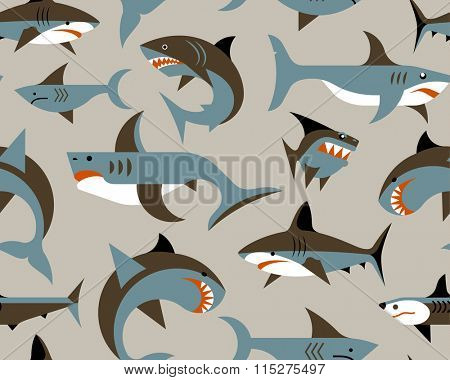 pattern with sharks