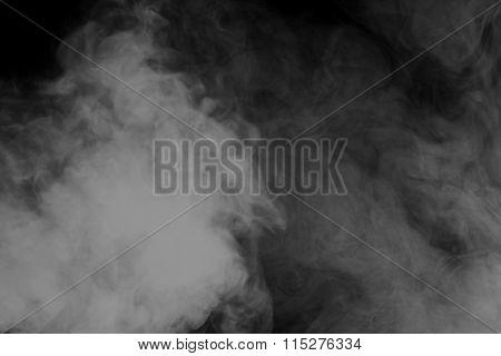 Abstract Gray Smoke Hookah. Inhalation.