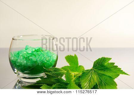 Bath Salt And Leaves Currants