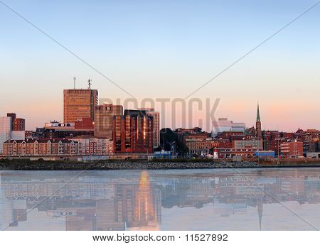 City Panorama Of Saint John, New Brunswick