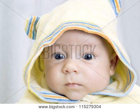 infant in  hood