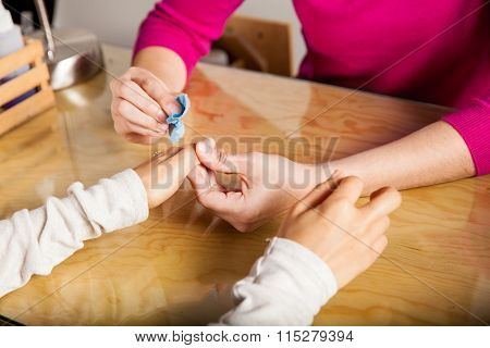 Removing Nail Polish From A Client