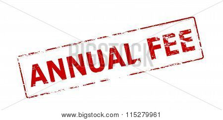 Rubber stamp with text annual fee inside vector illustration