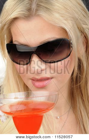 Attractive Woman enjoying a Drink