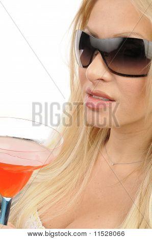 Attractive Woman enjoying a Drink