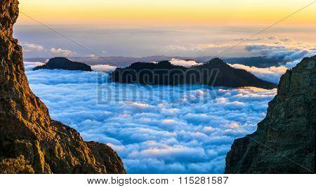 sunset over clouds - Gran Canaria