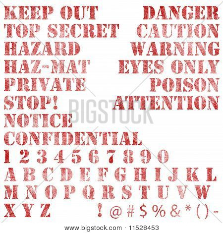 Faded Stenciled Warning Notices