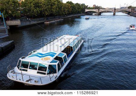 Tourist Barge On Melbourne's Yarra River