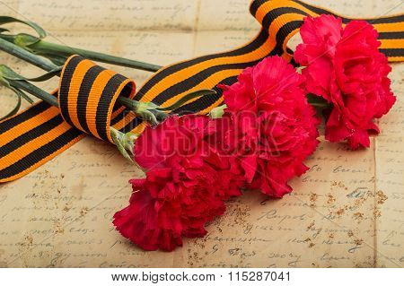 Carnations And Letter From The War