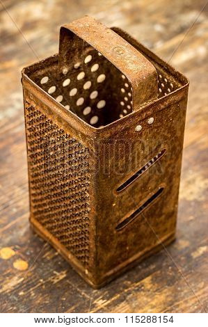 Old Rusty Grater. Selective Focus