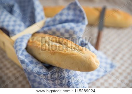 Home made french baguette