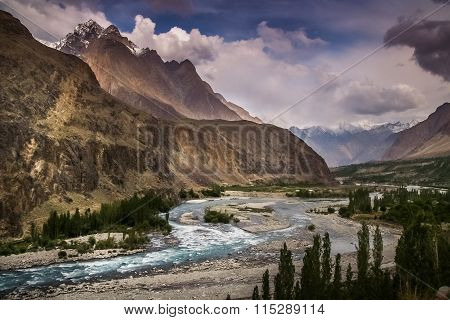 Blue Gilgit river