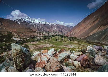 Mountain Valley In Karakorum