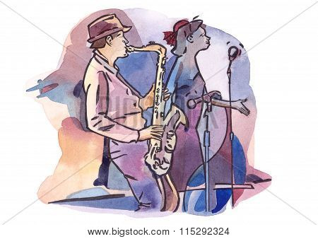 Jazz duet with saxophonist and singer